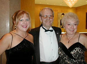 Kara Friedrich with her father and mother, Dwain and Alice Saldeen, at the Pancreatic Cancer Action Network's Evening with the Stars gala in 2002.