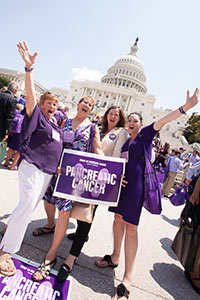 Advocates stomping on pancreatic cancer