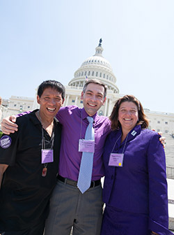 Igor (center) at Advocacy Day 2014, alongside fellow Philadelphia volunteers.