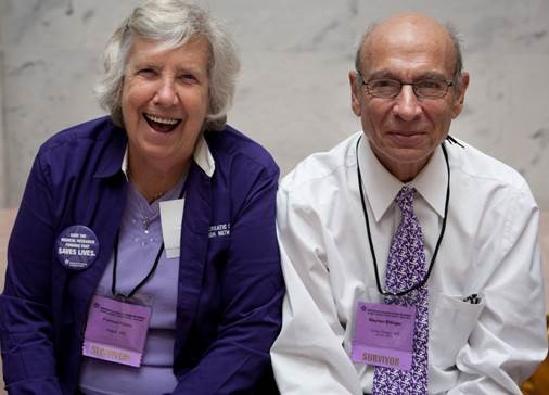 Frannie with good friend and fellow pancreatic cancer survivor Johannes