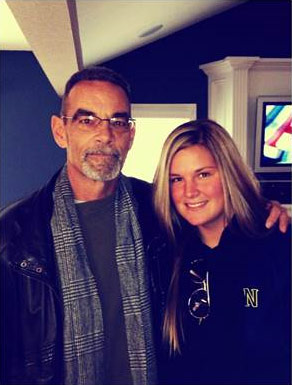 Sarah with her dad, Ken, who passed away from pancreatic cancer in 2013.