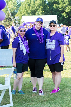 Lauren with her teammates at PurpleStride Oklahoma.