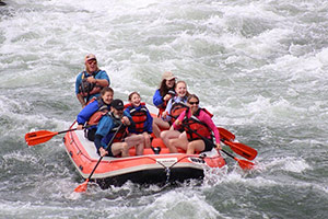 The family whitewater rafting and making life an adventure!