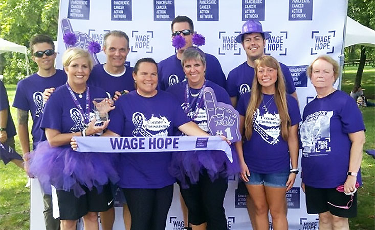 The top-performing PurpleStride team Connie's Crusaders based in Nashville