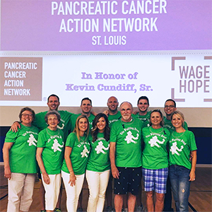 """Fighting Irish"" pancreatic cancer walk team in St. Louis"