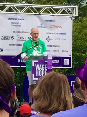 Pancreatic cancer survivor speaking at 5K walk in St. Louis before he died from 22-month battle