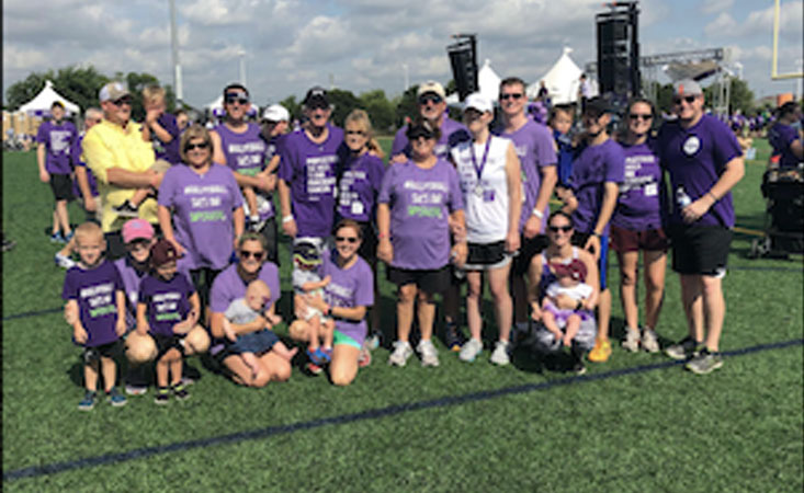 Allison's family and friends joined her at PurpleStride, the walk to end pancreatic cancer.