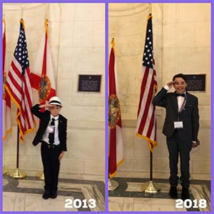 Adolescent pancreatic cancer advocate in our nation's capital for 2013 and 2018 Advocacy Day