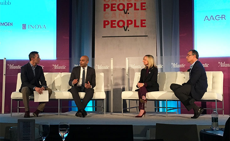 A panel of experts focused on precision medicine at The Atlantic's People v. Cancer event